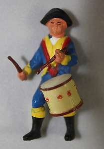 Vintage Plastic Toy Marching Soldier With Drum