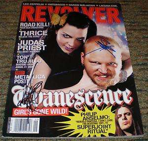 AMY LEE / BEN MOODY  EVANESCENCE   Signed 2003 REVOLVER Magazine