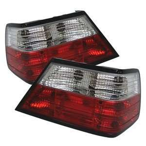 86 95 Mercedes Benz W124 E Class Red/Clear Tail Lights