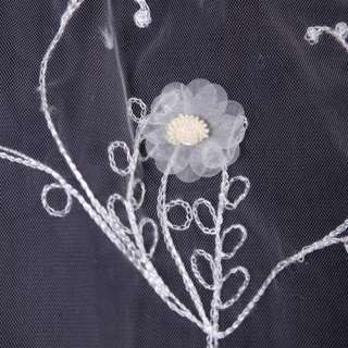 White Bride Bridal Wedding Cathedral Embroider Veil Free ship