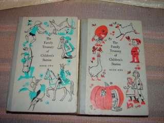 Vtg The Family Treasury Of Children Stories 1956 Books