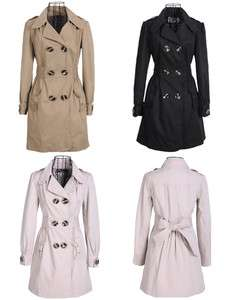 New Style Womens Trendy Double breasted Trench Autumn Winter Coat
