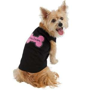 Harley Davidson Black Tank Top Dog Shirt Pink Bone XS