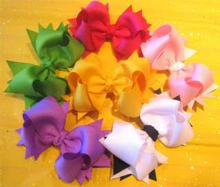 Loopy Boutique Hair Bows Baby Hairbow Girls Spikey Big Hairbows