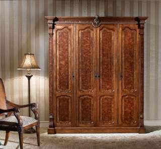 Warm Brown Rococo Closet Wardrobe