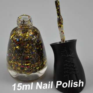 Colors Stunning Ladies Glitter Decoration Nail Art Polish NEW