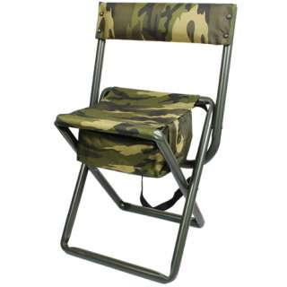 Military Camping Deluxe Woodland Camouflage Folding Chairs w/Pouch