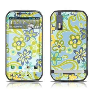 Hippie Flowers Blue Design Decorative Skin Cover Decal