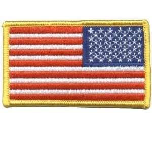 STATES US FLAG Gold REVERSE Biker Vest Patch!!!!: Everything Else