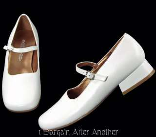 New Sam & Libby Ollie White Leather Mary Jane Dress Shoes Size Youth 3