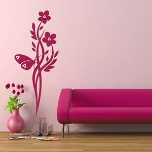 FLOWER TREE WALL ART DECAL STICKER TRANSFER giant stencil vinyl CH4
