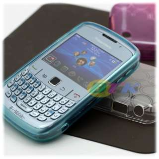 4x Flex Soft TPU Resin Gel Case Blackberry Curve 8520