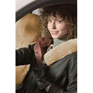 Sheepskin Car Seat Cover/Drivers, GOBI TAN, Size 1 SIZE Automotive