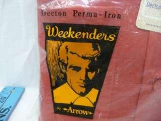 Vintage Arrow weekenders dress shirt 1970 red long sleeves size 17 17