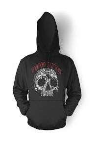 Voodoo Tattoo Skull Pullover Gothic Tribal Mens Hoodie