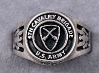 US Army Cavalry Rings Choice of 12 Different Units Cavalry and Armored