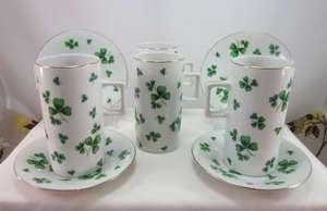 Vintage  Shamrock Porcelain Irish Coffee Espresso Cups