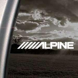 Alpine Stereo Logo Decal Car Truck Window Sticker