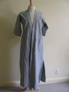Tucker Robe Dress Coat Black White Stripes NWOT Petite