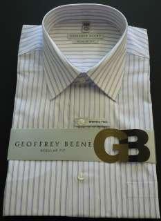 GEOFFREY BEENE Mens Stripe Dress Shirt Delf Blue