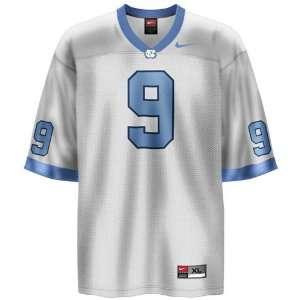 North Carolina Tar Heels (UNC) #9 White Youth Replica Football Jersey