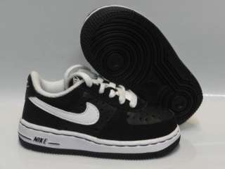 Nike Force 1 Black White Shoes Infant Toddler Sz 8.5