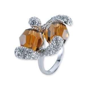 Kallestra Swarovski Crystal Ring   Gold Jewelry