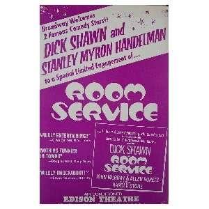 ROOM SERVICE (ORIGINAL BROADWAY THEATRE WINDOW CARD)