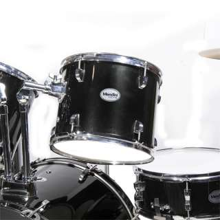 NEW 5 PIECE COMPLETE DRUM SET +CYMBAL+STOOL ~BLACK