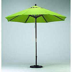 Round 9 foot Lime Green Hard Wood Patio Umbrella