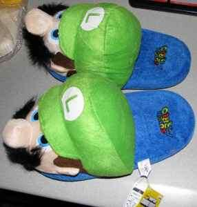 Super Mario Bros luigi Slippers Brand New