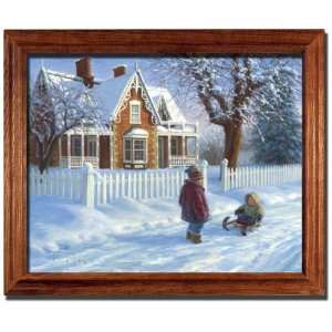 Emmas Sleigh Ride Robert Duncan Framed Print Picture