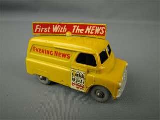 1957 Matchbox Lesney #42 Evening News Van Gray Wheels