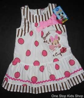 MINNIE MOUSE Girls 2T 3T 4T 5T Set Outfit DRESS Skirt Shirt DISNEY