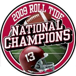 Alabama Crimson Tide 3 National Champs Auto Magnet