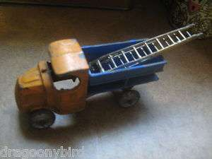 Old Original Collectible Rare 1930s Toy Dump Truck & Ladders