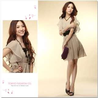 2012 New Korean Fashion Womens Stylish Chiffon Tunic Short Sleeve