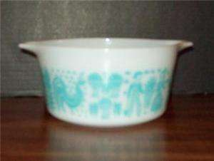 VINTAGE 1 QUART BUTTERPRINT PYREX BAKING DISH