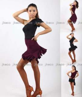 tango chacha ballroom dance dress top + skirt dance costume
