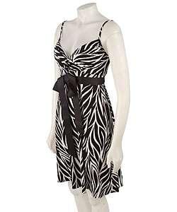 Tiana B. Zebra Print Cocktail Dress