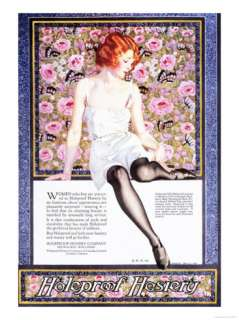 Holeproof Hosiery, Womens Stockings Nylons, USA, 1920 Premium Poster