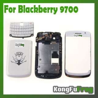 Housing Cover Case + Keypad For BlackBerry Bold 9700 OEM White