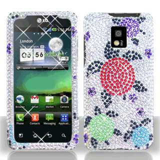 Rainbow Turtle Bling Case Phone Cover LG T Mobile G2X