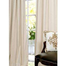 Signature Ivory Velvet 96 inch Blackout Curtain Panel