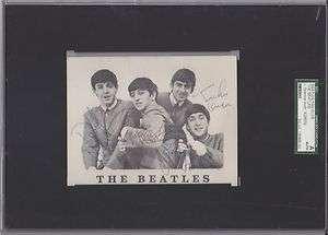Beatles JOHN LENNON & RINGO STARR Signed Fan Club POSTCARD PSA/DNA