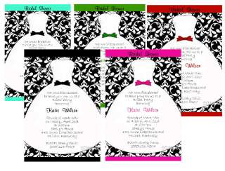 PERSONALIZED DAMASK BRIDAL SHOWER PARTY INVITATIONS