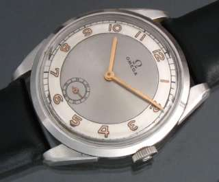 VINTAGE OMEGA SWISS OLD WATCH TWO TONES DIAL RELOJ MONTRE OROLOGIO UHR