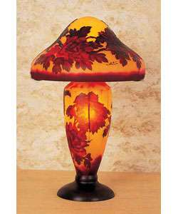 Cameo Glass Reproduction Galle Lamp  Overstock