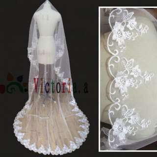 Style White/Ivory Mantilla Bridal Wedding Party Veil Hot Sell