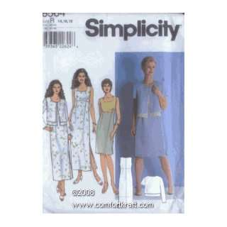 MissesÆ Dress and Jacket, Simplicity 8564 Simplicity Pattern Co Inc